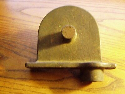 "Vintage Solid Brass Boat   Block DECK Pulley  3""  wheel Rope Feed Guide"