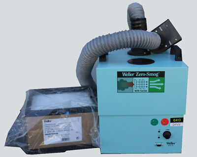 New WELLER Zero-Smog WFE 2S Fume Extraction Air Filter Purifier Cleaner+2 Filter