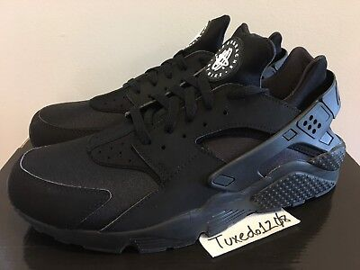 619b4d268d9 DS Nike Air Huarache sz12 Triple Black max 97 95 98 flyknit trainer 318429  003