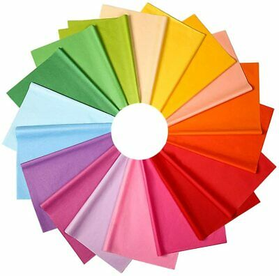 """50* Multi Coloured Tissue Sheets/Gift Wrap/ Wrapping Premium Sheets (20""""X30"""")"""