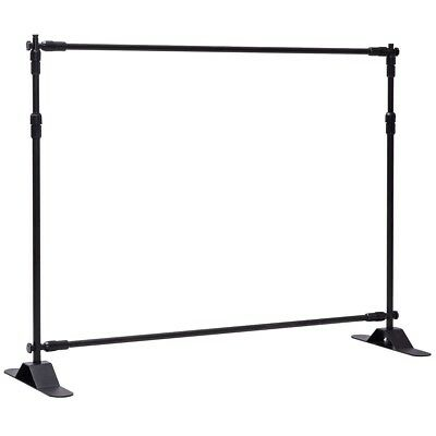 Giantex 8'x8' Banner Stand Adjustable Backdrop Telescopic Trade Show Display wit