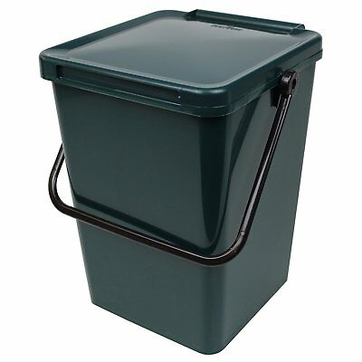 Large Green Kitchen Compost Caddy 10L for Food Waste Recycling 10 Litre - 10L