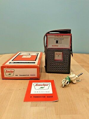 Vintage Sinclair Six Transistor Radio W/ Box, Ear Piece & Warranty Brochure