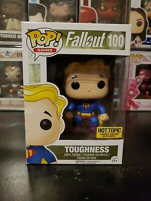 Funko Pop! Games Fallout Toughness #100 Hot Topic Exclusive WITH PROTECTOR!