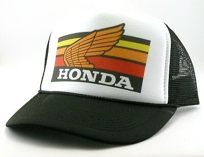 1980's Honda motocross Trucker Hat mesh hat snap back hat black vintage New