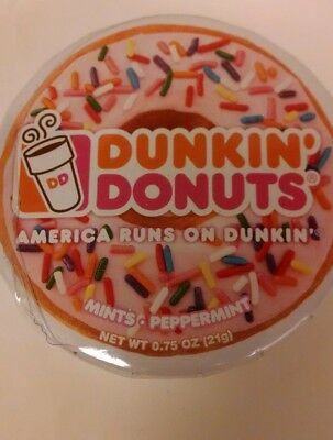 Dunkin Donuts - 1 Tin Of 100 Peppermint Mints - Collectible Tin - New