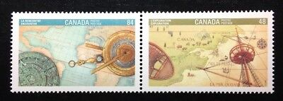 Canada #1406-1407 MNH, Canada 92 - Exploration and Encounter Pair of Stamps 1992