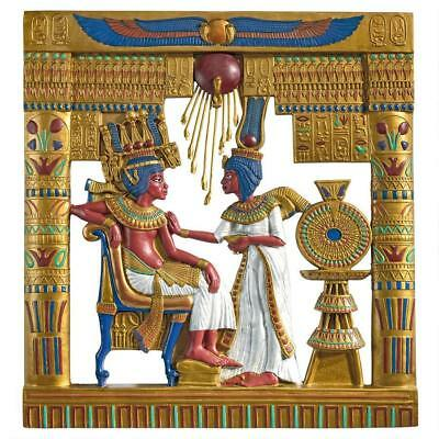 African Boy King Tut Egyptian Pharaoh Queen Ankhesenamun Wall Hanging Decor Art