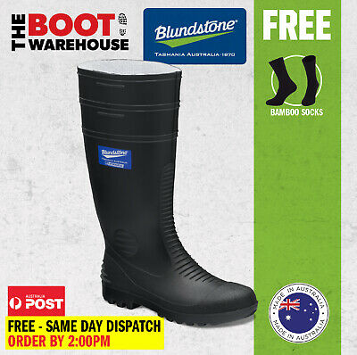 Blundstone Work Boots,  001 Non Safety. Soft-Toe Rubber Gumboots.