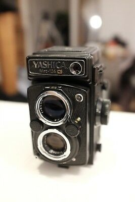 Yashica Mat 124G Twin Lens Reflex Camera, Mint Condition, Fully Functional