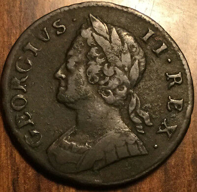 1749 UK GB GREAT BRITAIN HALFPENNY - a beautiful example !