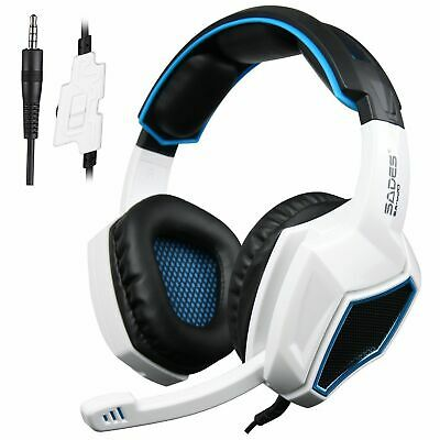Sades SA-920 Stereo Gaming Headset Headphone with MIC for PS4 Pro/Xbox/PC White