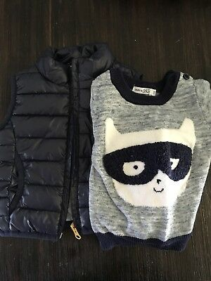 Baby Clothes David Jones Puffer Vest And Jumper Size 00
