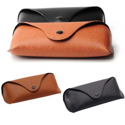 Portable Unisex Faux Leather Eye Glasses Sunglasses Holder Box Case Cover Divine