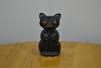 Cast Iron Cat Kitten Hubley 6 Pound Door Stop Smooth Finish Nice Paint Statue