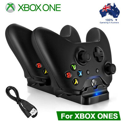 Xbox One Dual Charging Dock Charger Station with 2 Rechargeable Batteries