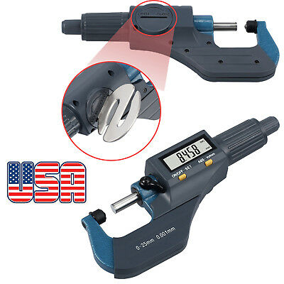 "LCD Digital Micrometer Caliper 0-1"" External Electronic Measuring Gauge Tool US"