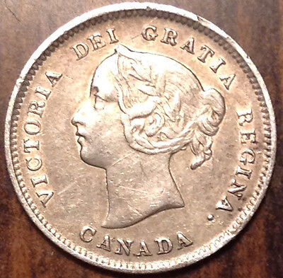 1899 Canada Silver 5 Cents In Best Of Circulated Condition !