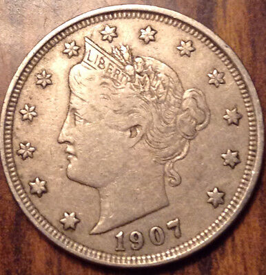 1907 Usa 5 Cents Liberty In Very Nice Condition !