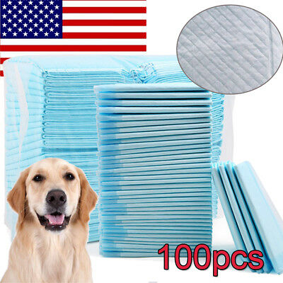 100PCS Dog Cat Puppy Pads Wee Pee Piddle Pad  Leak proof liner floor protection