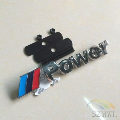 Us For Bmw M Sport Front Grill Badge 3d Car Logo Power Emblem Chrome