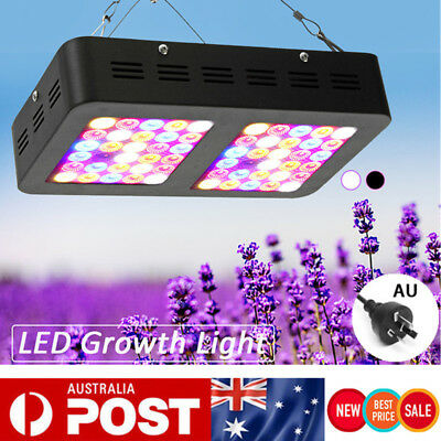 GLIME 300W Full Spectrum LED Grow Light Indoor Hydroponic Flower Plant Veg Bloom