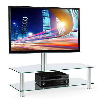 "Electronic star TV Stand Bracket Support Glas Table 37-50"" Monitor Silver Office"