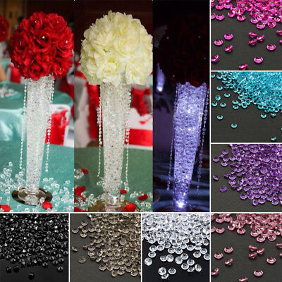 4.5mm Crystal Diamond Confetti Wedding Vase Filler Party Decor Table Scatter Hot
