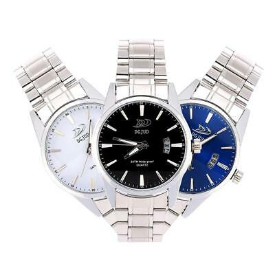 Business Men Military Watch Analog Stainless Steel Band Calendar Wristwatch Gift