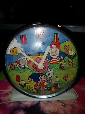 Vintage Alarm Clock Smiths (Timecal) 1950 Noddy