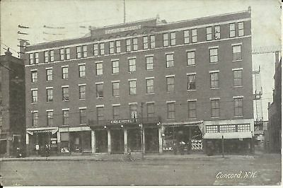 Old Vintage Eagle Hotel In Concord New Hampshire 1927 Postcard