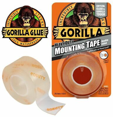 Gorilla Heavy Duty Mounting Tape Double Sided Weatherproof Permanent Display