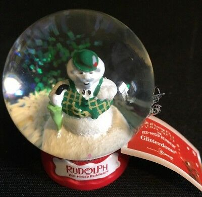 Snowman From Rudolph The Red-Nosed Reindeer Glitter Dome Snowglobe