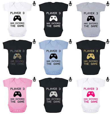 PLAYER 3 HAS ENTERED THE GAME, gaming, gamer, funny, BABY VEST / GROW Bodysuit