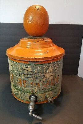 Lash's Orangeade Cooler Dispenser Metal Double Spigot Crock Original Rare