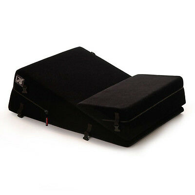 Liberator Black Label Wedge Ramp Combo Positioning Pillows - Black Microfiber