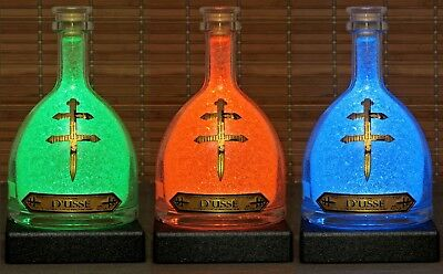 Dusse Cognac Color Changing Remote Bottle Lamp Bar Light Man Cave France