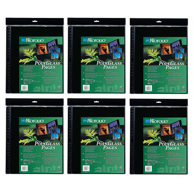 """Itoya A2 Size Art 16.5"""" x 23.4"""" Profolio Polyglass Pages (6-Pack)"""