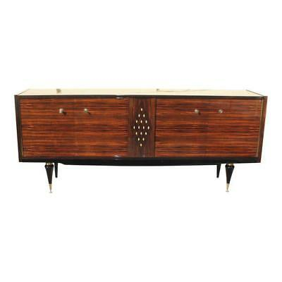 Fine French Art Deco Macassar Sideboard with diamond Mother-of-Pearl Center .