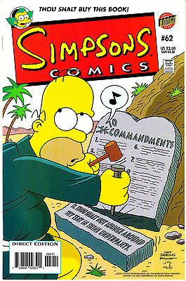 SIMPSONS COMICS 62...VF/NM...2001...Great Comic!...Bargain!