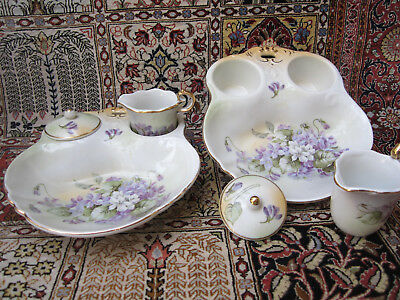 TWO VINTAGE1960 R & S BERRY BOWLS w INDIVIDUAL CREAM / SUGAR/LID. VGC MARKED.