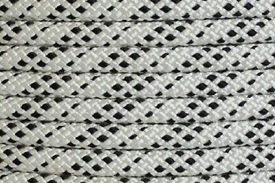 Polyester Double Braided Rope 12mm x 100m, White/Black Fleck