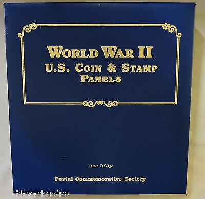 World War 2 U.s. Coin & Stamp Collection, 1941-1945 Every Coin Issued From P,d,s