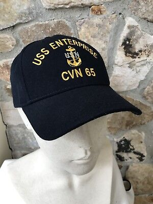 d5fb8396066 New USS ENTERPRISE CVN-65 Embroidered Anchor Hat Cap Corps Snapback Made in  USA