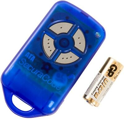 ATA Garage Door Remote Control PTX4 Blue Securacode Keyring - Various Options