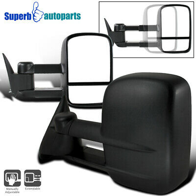 Left+Right 88-98 Chevy C/K 1500/2500/3500 MANUAL Towing Tow Hauling Side Mirrors