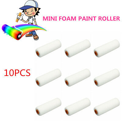 10 X 100mm Paint Foam Sponge Rollers Decorators Brush Evenly & Smooth Home Tools