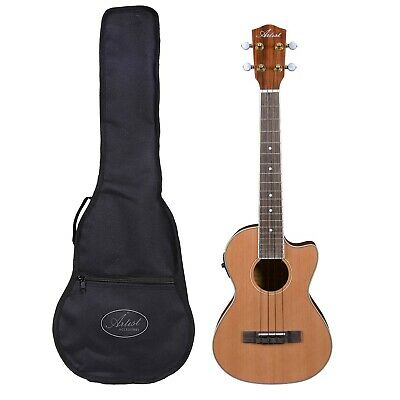 Artist UKT150CEQ Tenor Ukulele, Solid Top + Cutaway, EQ and Bag - New