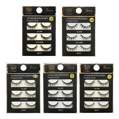 3pair 3D Triple Magnetic False Eyelashes No Glue Natural Extension Eyelashes
