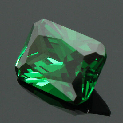 9.08CT 10X14MM Emeraude Vert Rectangle Splendide Bijoux Naturelle Elégant